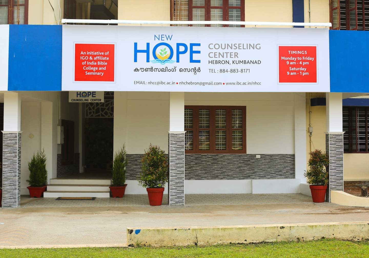 New Hope Counseling Center is an initiative of India Gospel Outreach and India Bible College and Seminary.