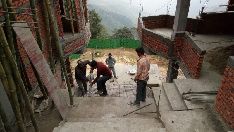 View from the construction site of the new training facility shows the steep terrain of the Darjeeling area. The region is highly receptive to the gospel.