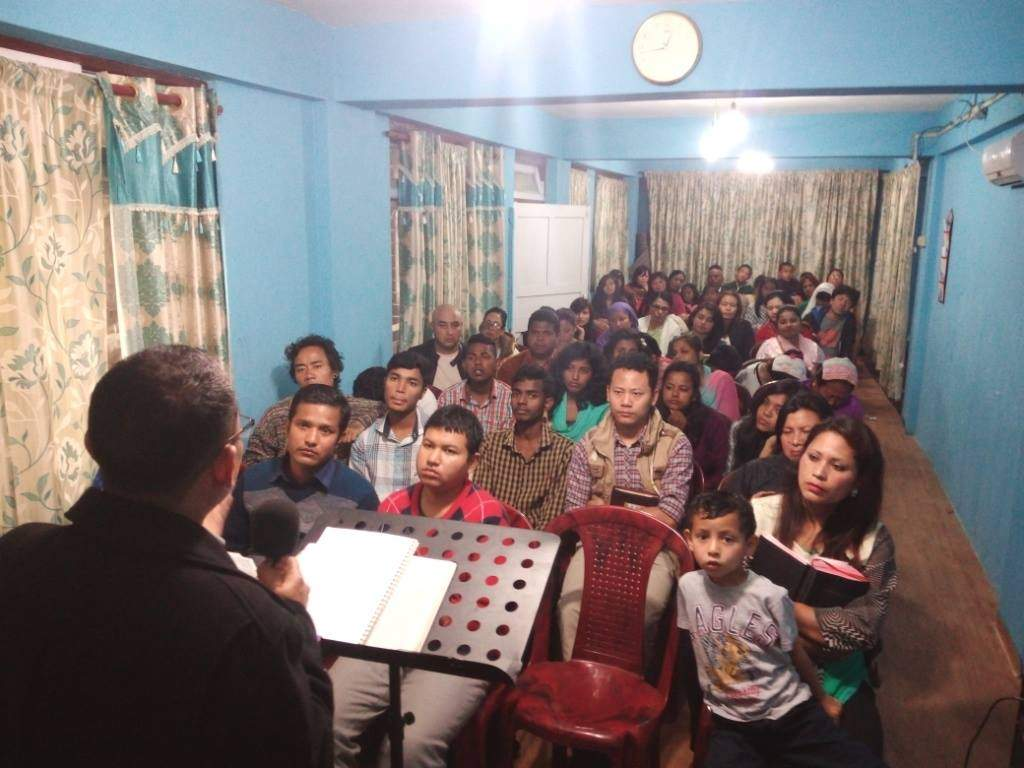 Darjeeling Christian Assembly, one of several churches in the city started by Pastors Pradeep and Mhontsen. All these people were once Buddhist or Hindu.