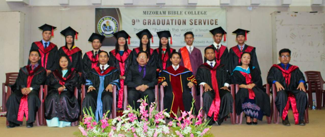 Mizoram Bible College class of 2017. Expanded facilities would make it possible to graduate many more evangelists. Many others have received God's call but there is no room for them.