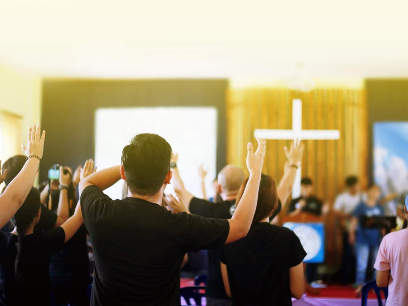 An American Christian youth conference. As in India, dedicated Christian youth are a minority, but are like Daniel and his three friends in today's world.